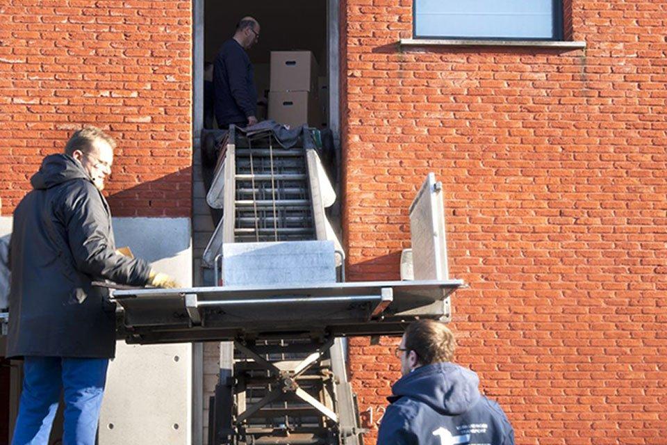 Verhuisdienst met ladderlift