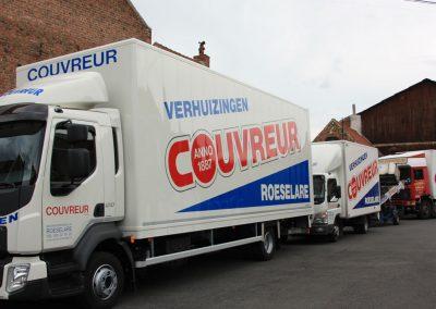 Verhuiswagens Couvreur Roeselare - West-Vlaanderen